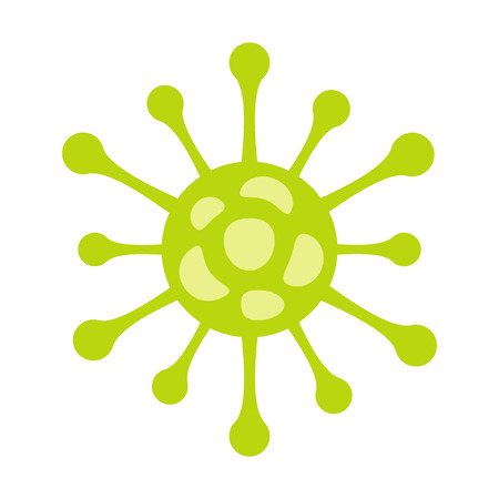 Virus icono plana aislada en el fondo blanco. coronavirus Ilustración de vector