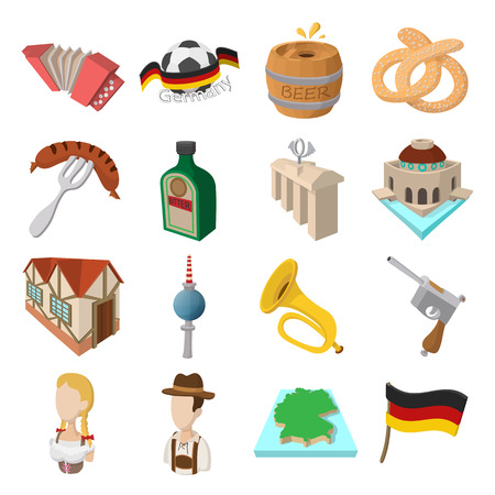 germanic people: Germany cartoon icons set for web and mobile devices