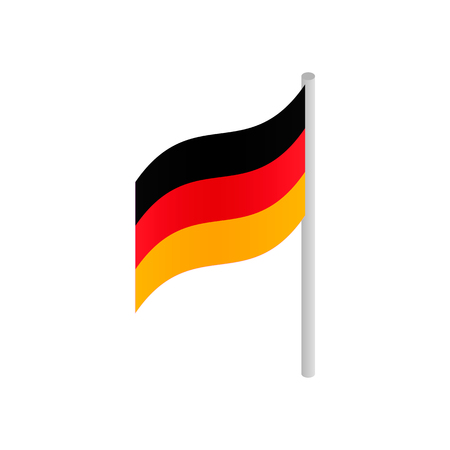 flag germany: Germany flag isometric 3d icon on a white background