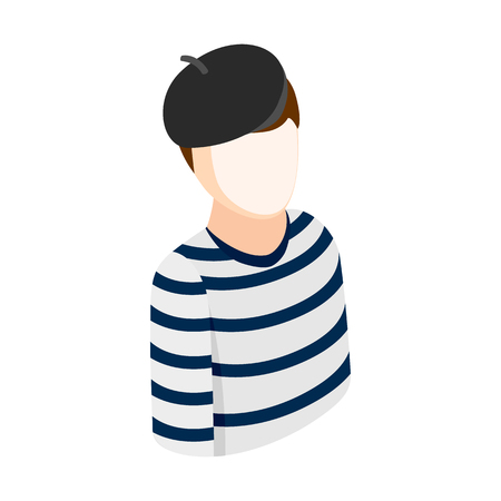 mime: Mime isometric 3d icon on a white background