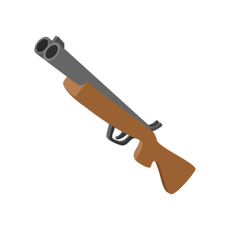 hunting rifle: Hunting rifle without sight cartoon icon. Single symbol isolated on a white background Illustration