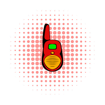 simplex: Transmitter comics icon isolated on a white background