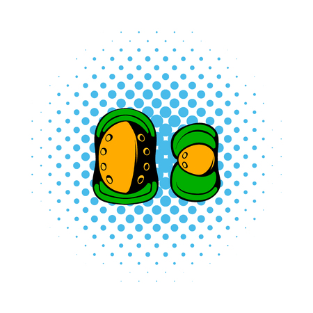 hopper: Paintball knee protection comics icon isolated on a white background