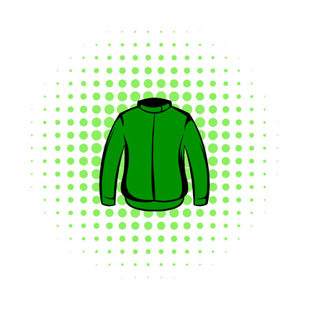 flak: Paintball protective jacket comics icon isolated on a white background Illustration
