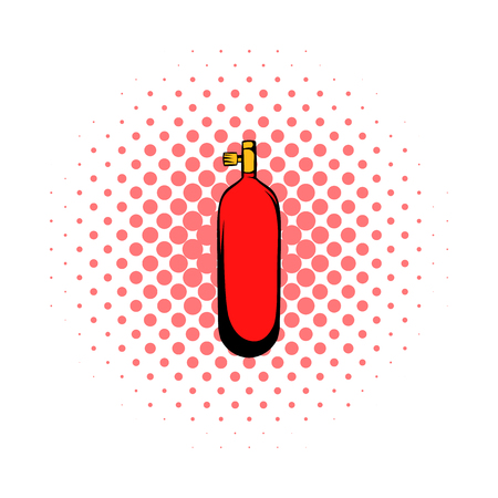 gas bottle: Bottle gas comics icon isolated on a white background