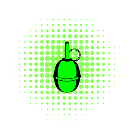 hand grenade: Hand grenade comics icon isolated on a white background