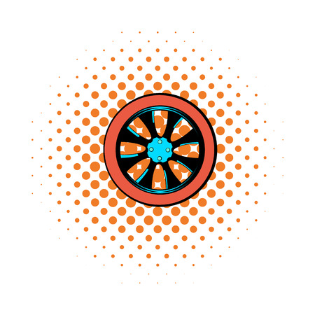 impeller: Rotor comics icon isolated on a white background Illustration