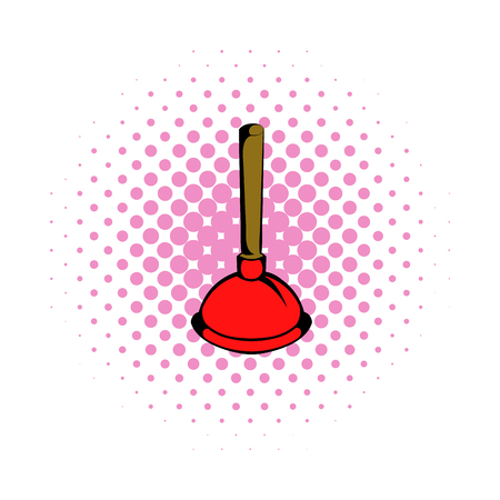 unblock: Plunger comics icon isolated on a white background