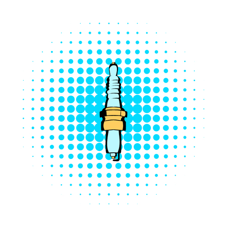 catalyst: Car spark comics icon isolated on a white background