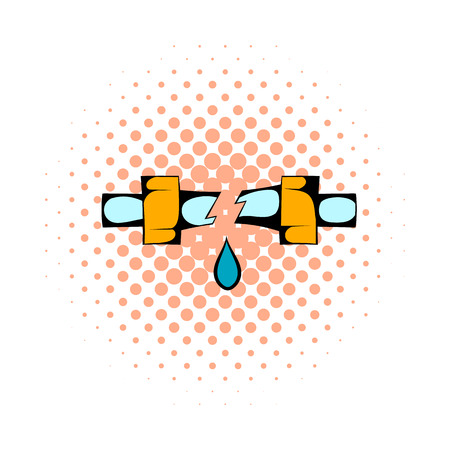 aqueduct: Break trumpet comics icon isolated on a white background