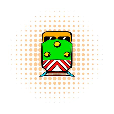 the locomotive isolated: Locomotive comics icon isolated on a white background