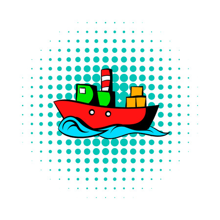 supertanker: Dry cargo comics icon isolated on a white background