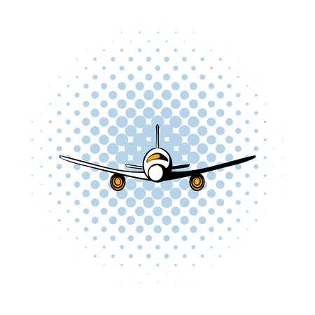 undercarriage: Airplane comics icon isolated on a white background Illustration