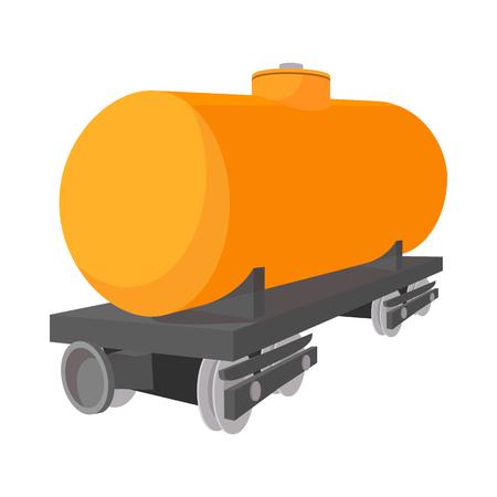 tank car: Railroad tank car cartoon icon on a white background Illustration