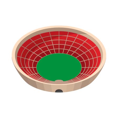 real trophy: Round sports stadium cartoon icon on a white background Illustration