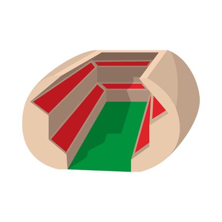 soccer stadium: Football soccer stadium cartoon icon on a white background