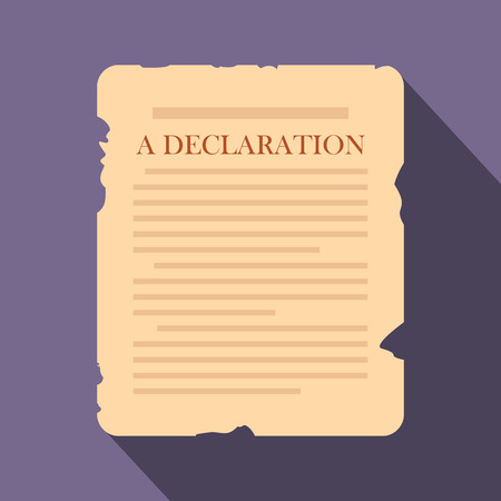 declaration: Declaration flat icon on a violet background Illustration