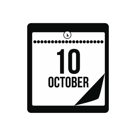 christopher: Columbus day calendar icon. Black simple style