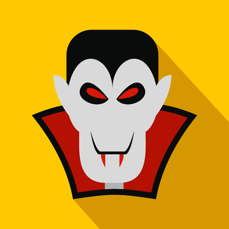 vlad: Vampire dracula flat icon with shadow for web and mobile devices Illustration