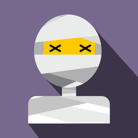 mummified: Mummy flat icon with shadow for web and mobile devices