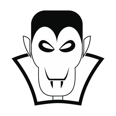 vlad: Vampire dracula icon. Black simple style on white