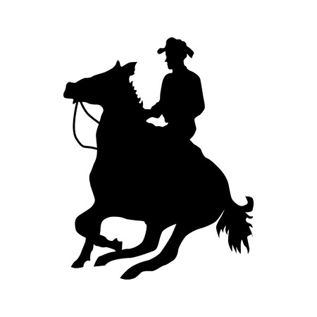 duel: Cowboy silhouette black icon isolated on white background