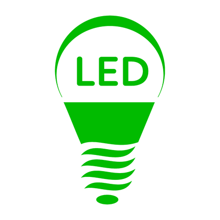 led: LED bulb light icon in simple style on a white background