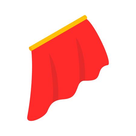 Icona rossa del Capo in stile isometrico 3d su uno sfondo bianco