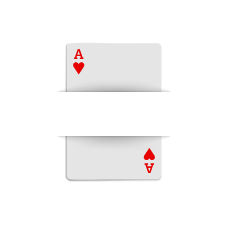 ace of hearts: Ace of hearts icon in realistic style on a white background Illustration