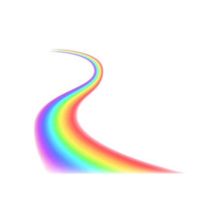 curved line: Rainbow curved line icon in realistic style on a white background Illustration