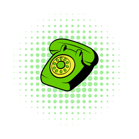 touchphone: Phone comics icon isolated on a white background