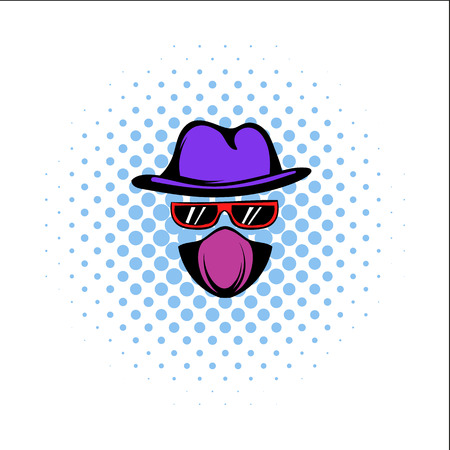 evade: Spy comics icon isolated on a white background