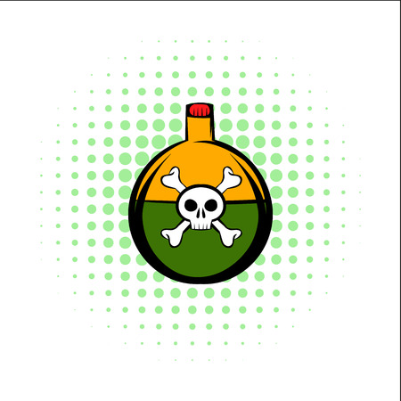 bane: Poison comics icon isolated on a white background