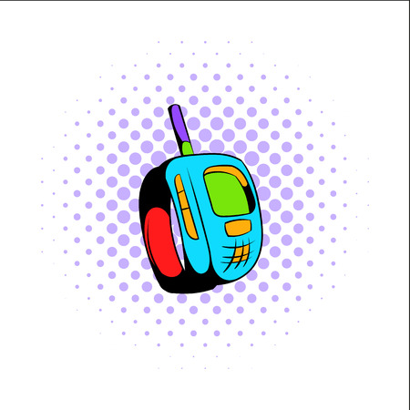 Transmitter comics icon isolated on a white background