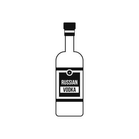 distill: Bottle of vodka icon in simple style isolated on white