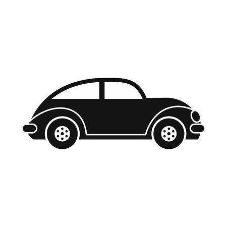 Auto oldtimer icoon in eenvoudige stijl geïsoleerd op wit