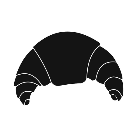buttery: Fresh croissant icon in simple style isolated on white Illustration