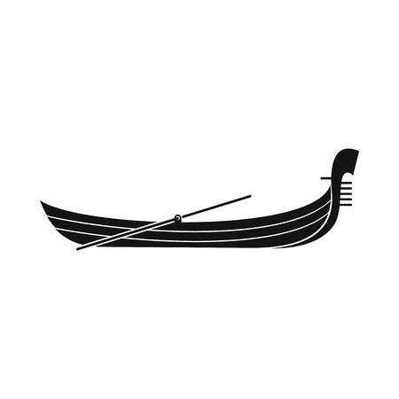 gondolier: Gondola icon in simple style isolated on white Illustration