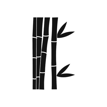 fengshui: Bamboo stems icon in simple style isolated on white