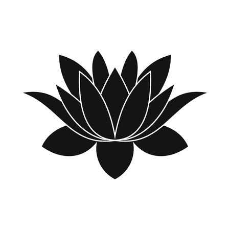 lotusbloem icoon in eenvoudige stijl geïsoleerd op wit Stock Illustratie