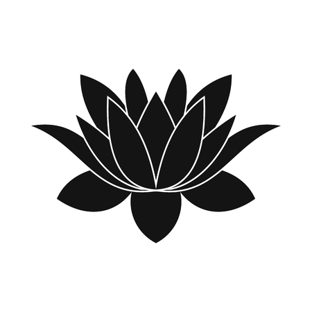 lotus flower icon in simple style isolated on white