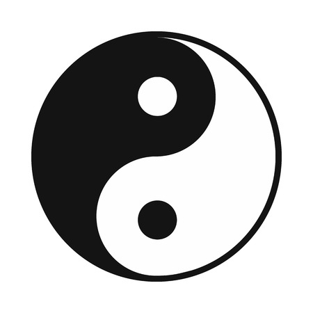 yang style: Ying yang icon in simple style isolated on white Illustration
