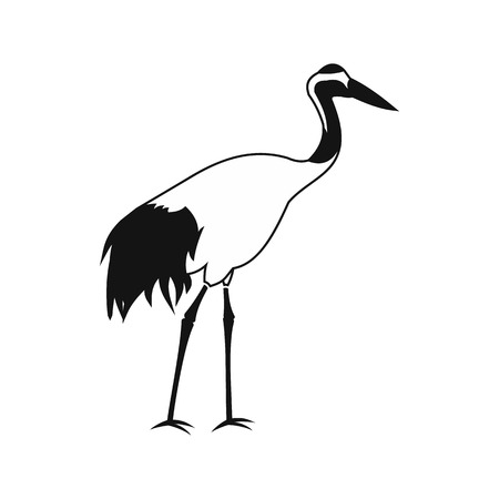 wader: Crane icon in simple style isolated on white
