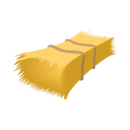 bale: Haystack cartoon icon isolated on a white background Illustration