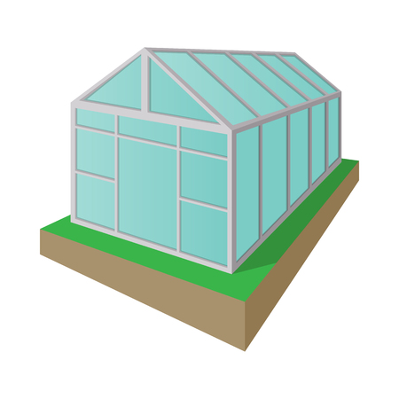 Greenhouse cartoon icon isolated on a white background