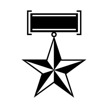 second world war: Star second world war medal icon in simple style on a white  background Illustration