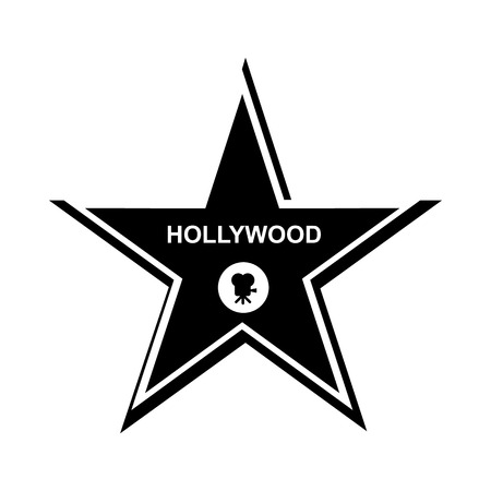 hollywood star: Hollywood star icon in simple style on a white  background Illustration