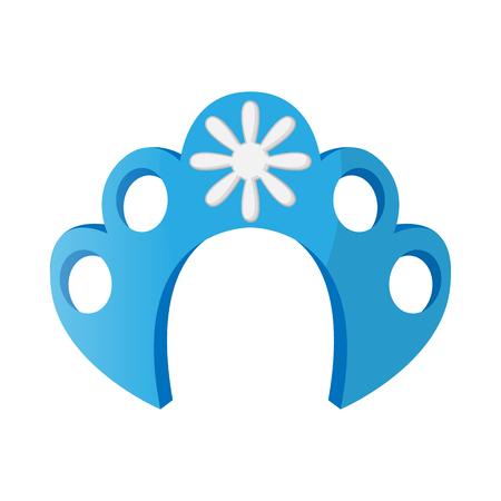 kokoshnik: Kokoshnik icon in cartoon style on a white background Illustration