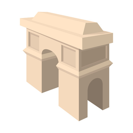 triumphal: Triumphal arch icon in cartoon style on a white background