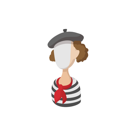 mime: Mime icon in cartoon style on a white background